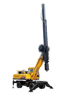 Wheel rotary drilling rig
